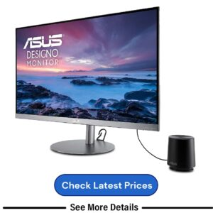ASUS Designo 27-inch 2K (WQHD) IPS Monitor with built-in Speakers